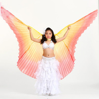 Girls Kids Transparent Fantasy Belly Egypt Dance Isis Wings Oriental Dancing Costume Accessory Not Opening