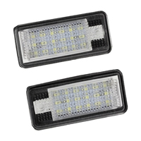 AUTO 2x 18 LED License Number Plate Light Lamp For Audi A3 S3 A4 S4 B6