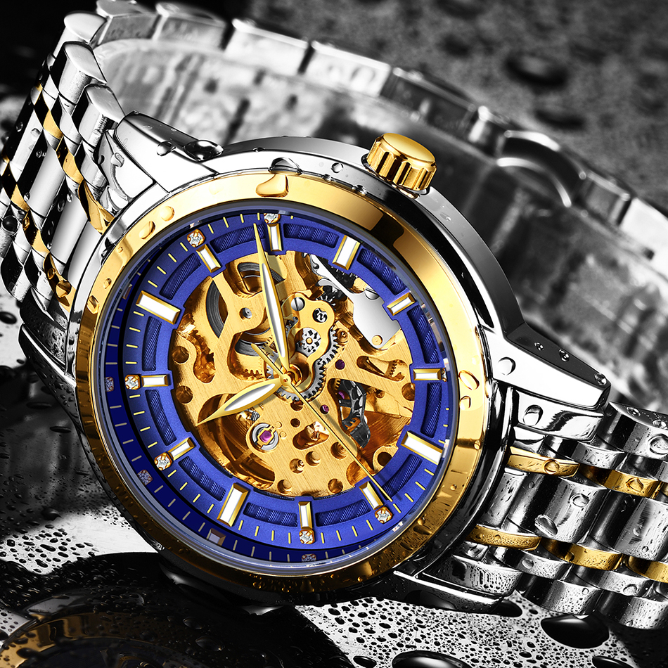 Compre LIGE Maquinaria Automática Esqueleto Relojes De Lujo Moda ... 555af84f822a