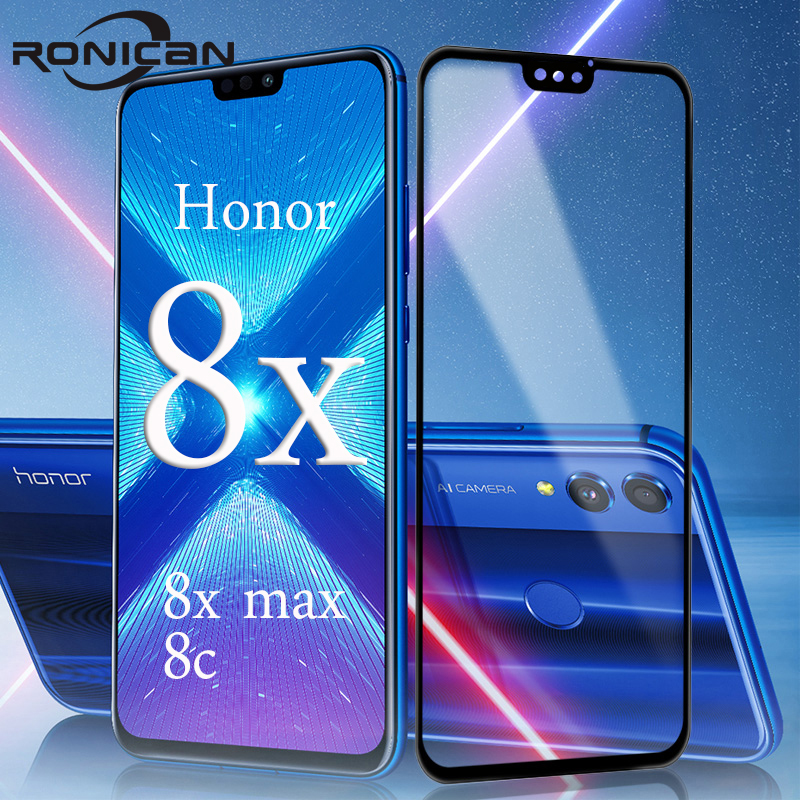Protective Glass On Huawei Honor 8X Max 8C 8 Pro Screen Protector Tempered Glass Huavei Hauwei Huawey Honer Honor 8 Lite 9H Film