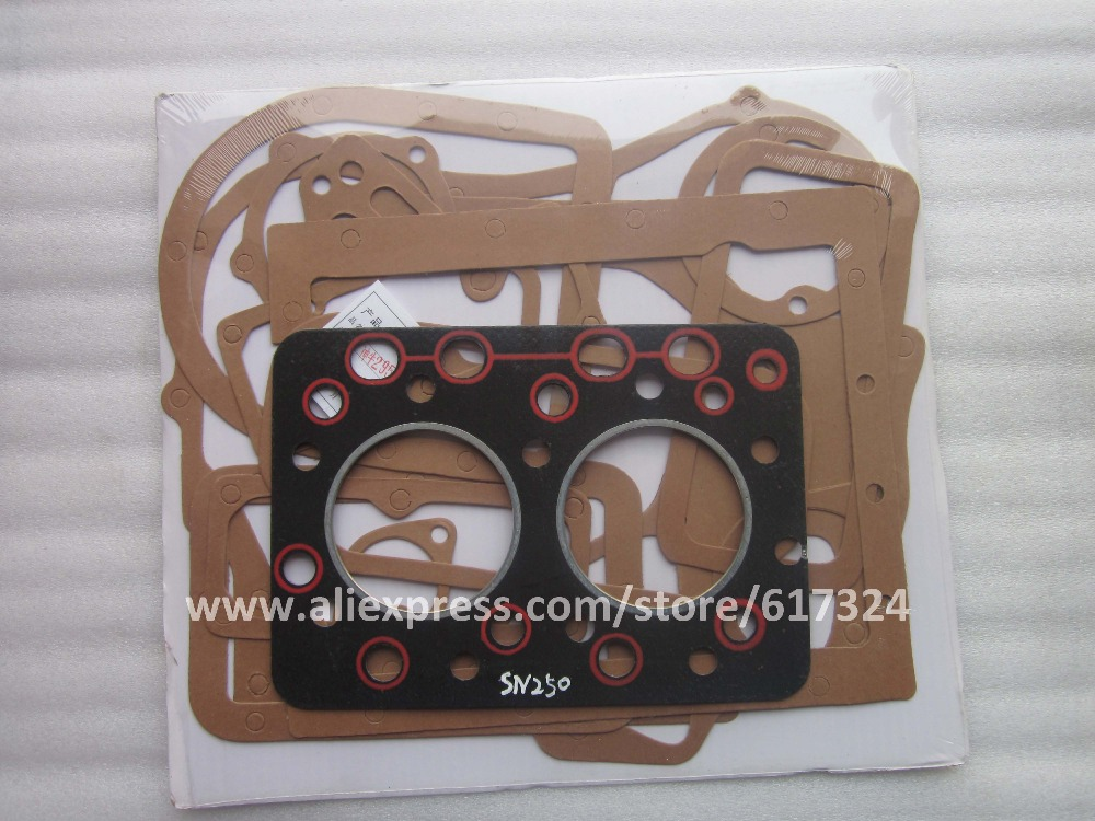 Shenniu Bison 254 tractor parts, head gasket with engine block gasket kit for engine HB295T