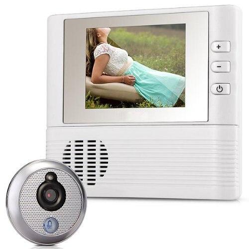 EWS Digital Viewfinder Judas 2.8 LCD 3x Zoom door bell for safety thgs digital viewfinder judas 2 8 lcd 3x zoom door bell for safety