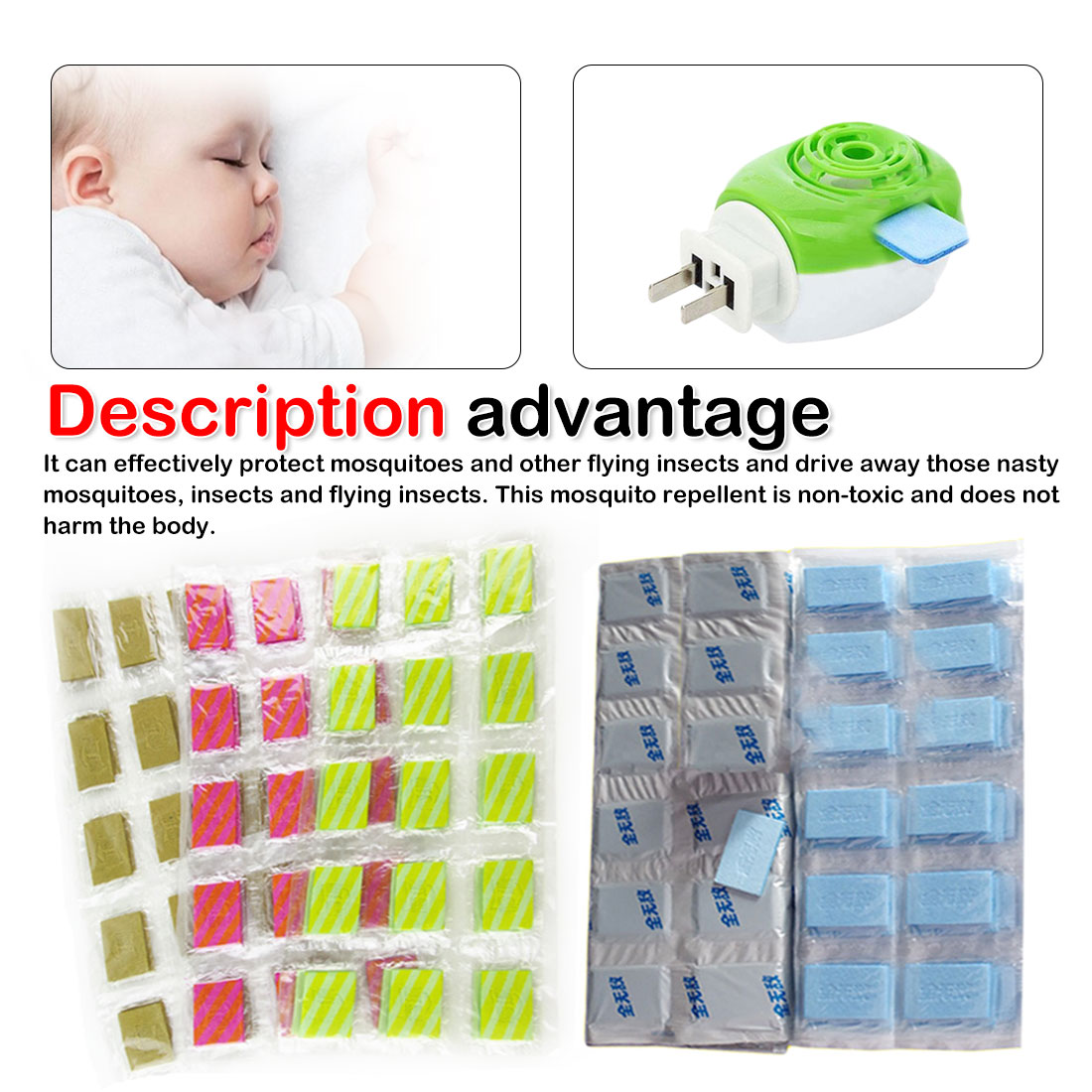 60Pcs/lot Mosquito Repellent Tablet Insect Anti Mosquito Pest Repeller No Toxic Pest Reject Insect Killer Pest Control