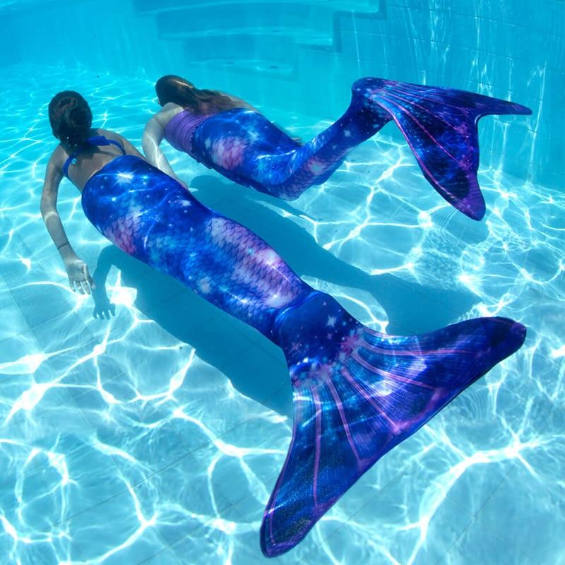 Adult Kids Mermaid Tail Swimsuit Cosplay Costume Can Add Monofin /Flower/Mermaid Tails Zeemeerminstaart Cauda De Sereia C28105CH