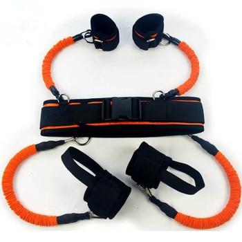 New Kicking Box Force Training Muay Thai Boxing Equipment Belt Black Orange 130lbs