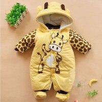 Winter Baby Boys Girls Romper Clothing For Babies Cute Animals Cartoon Thicken Warm Jumpsuits Costume Newborn
