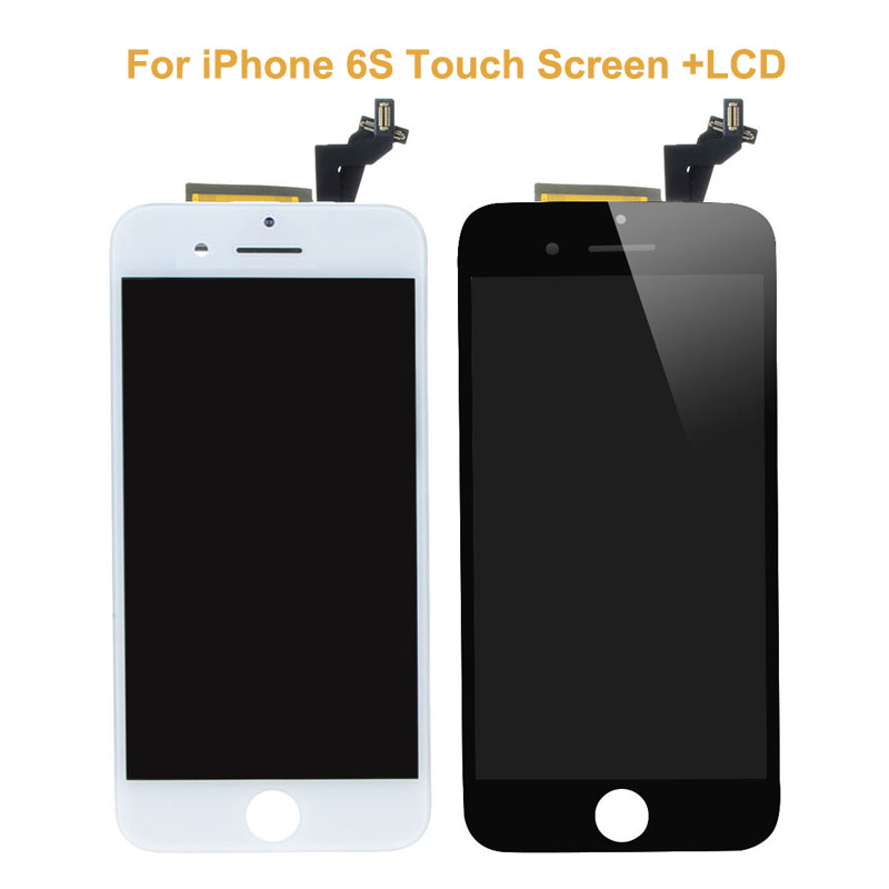 5 PCS/LOT New Original Black White Touch Screen Digitizer Glass Sensor For iPhone 6S+LCD Display Panel Screen Replacements