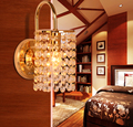Bedside Bedroom Stair with crystal strings gold golden wall lamp light sconce