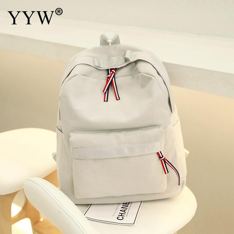 Yyw Canvas Backbag Small Easy Matching School Backpack Brand Preppy Style Patchwork Cheap Travel Backpack Mochila Colores Mujer