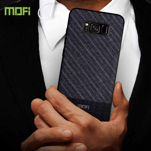 MOFi Samsung S8 S8 Plus Luxury Fabric Business Style Back Case Cover