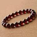 100% Natural AA Grade Garnet Bracelet Men Women,Charming 8~9mm Wine Red Bead Bracelets for Women Men Jewelry Brazaletes Pulseras