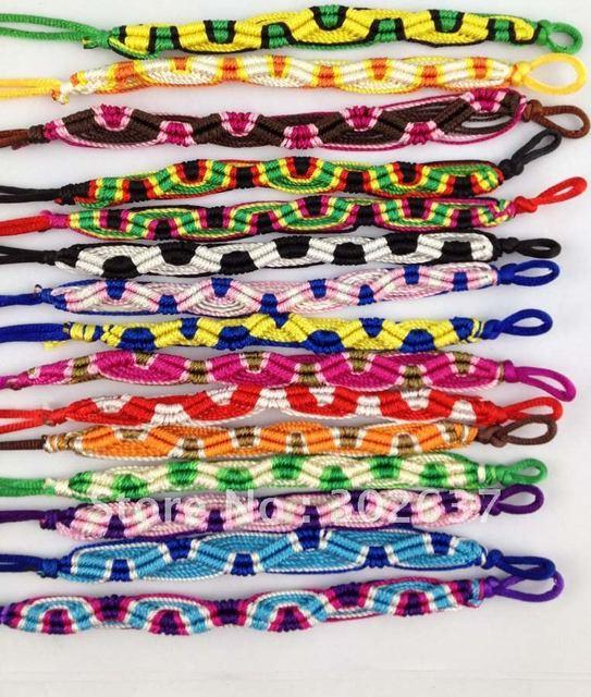 15 Mixed Colours Woven Friendship bracelets #20938