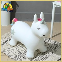 Quality Inflatable Hopping Rubber Unicorn Jumping Rocking Horse Ride on Animal Toddler Toys