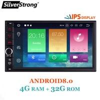 SilverStrong 7 ''IPS ЖК дисплей двойной Din Android7.12 8,0 Универсальный 2Din DVD Android автомобильный gps Радио Универсальный 7 дюймов авто стерео 2din 706