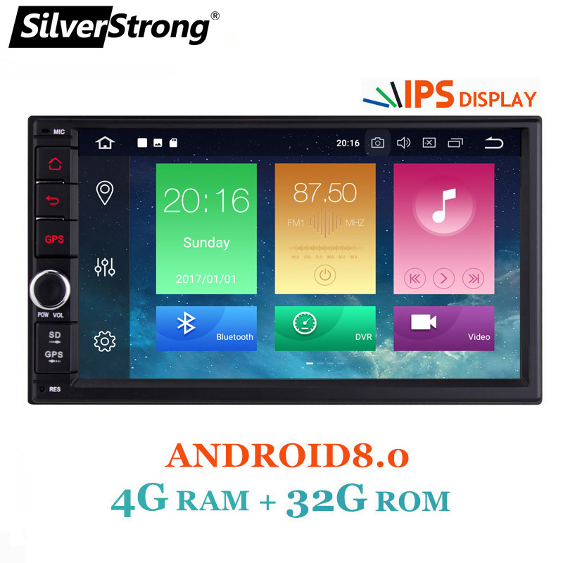 SilverStrong 7''IPS LCD Double Din Android7.12-8.0 universal 2Din DVD Android Car GPS Radio Universal 7inch auto Stereo 2din 706 silverstrong 7inch android8 0 universal 2 din car dvd 4g internet sim modem car radio auto stereo gps kd7000