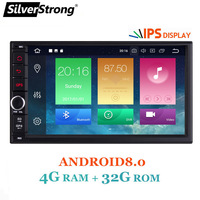 SilverStrong 7''IPS LCD Double Din Android8.0 8.1 universal 2Din DVD Android Car GPS Radio Universal 7inch auto Stereo 2din 706