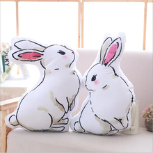 Lovely Double Sided Rabbit Plush Toy Stuffed Animal Doll Soft Plush Pillow Send to Children & Friends Gift stuffed animal 100 cm lovely rabbit plush toy orange rabbit throw pillow soft doll gift w3525
