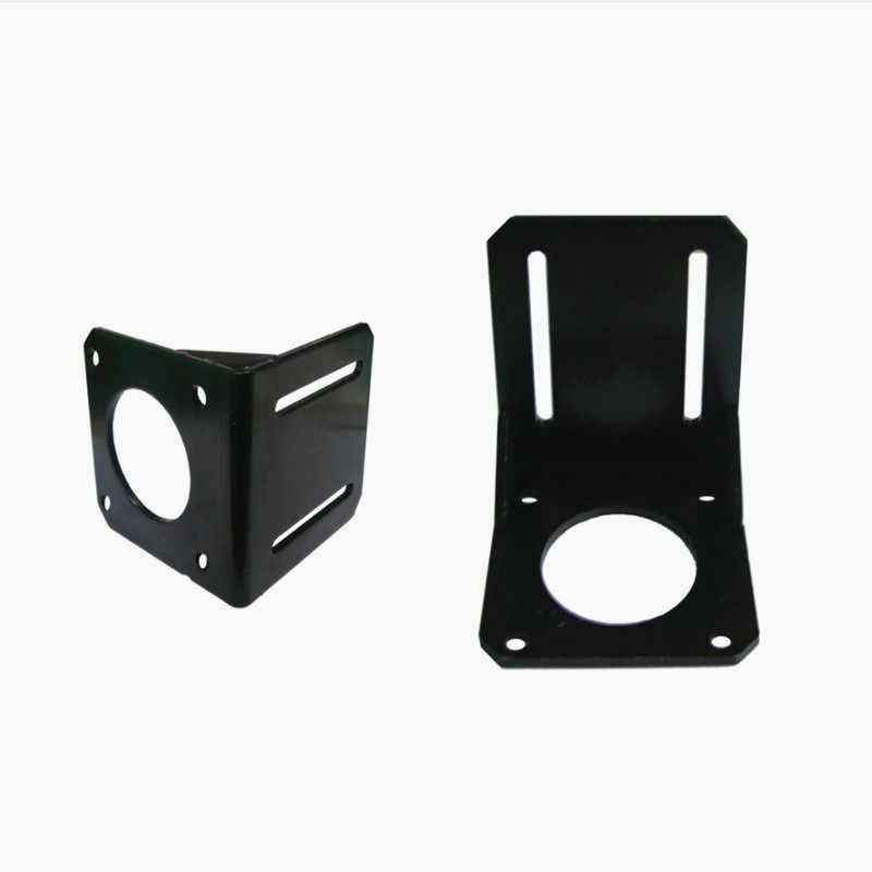 Nema17 mount L bracket 42 stepper motor fitted black alloy steel mounting bracket diy cnc parts L type 42 brackst