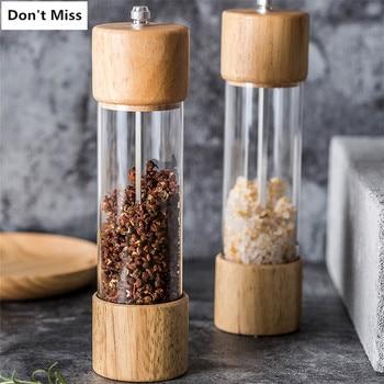 деревянная мельница для соли и перца мельница для специй фенхель кунжут внезапно