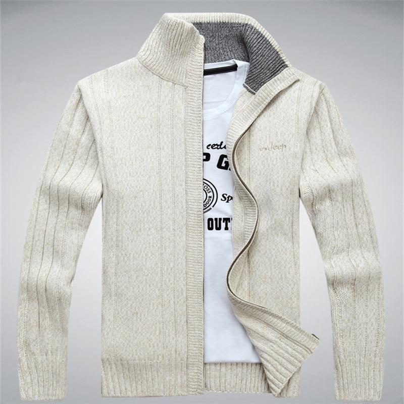 NIANJEEP Sweaters Wool Cotton Sweater Men
