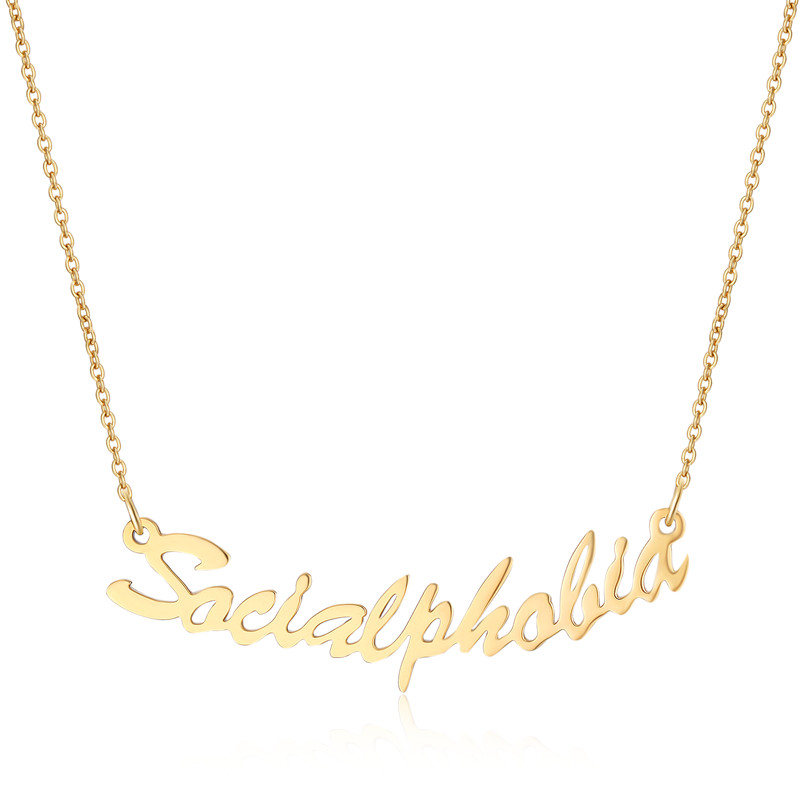 Personalized Custom Any Name Necklace Choker Women Gift Custom Gold Rose Gold Color Nameplated Necklace Handmade Women