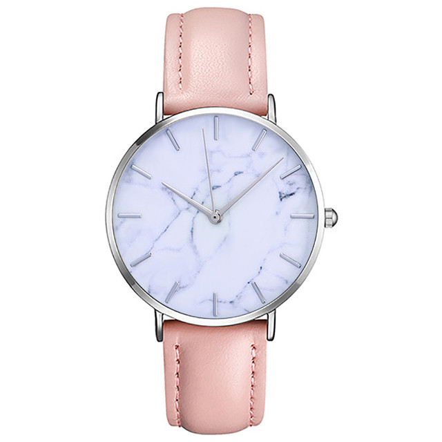 Stylish Marble Mirror Dial Watche