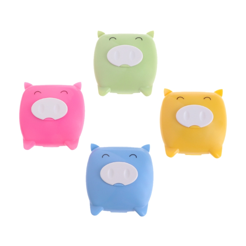 2018 Hot Cute Pig Mini Contact Lens Storage Set Travel Kit Lenses Holder Soaking Case Box A17_40