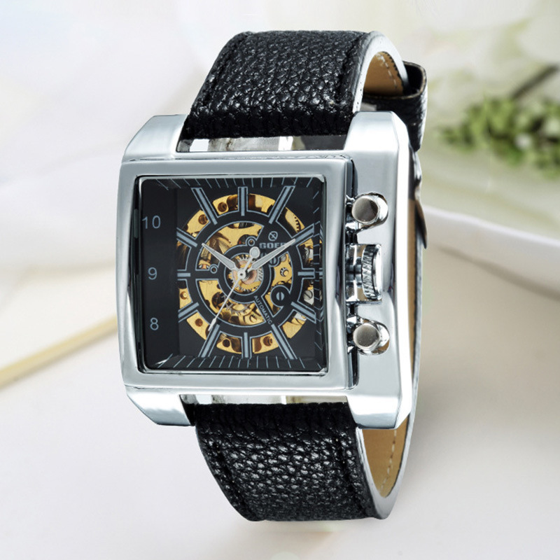 Automatic mechanical watch fashion square super large men's watch