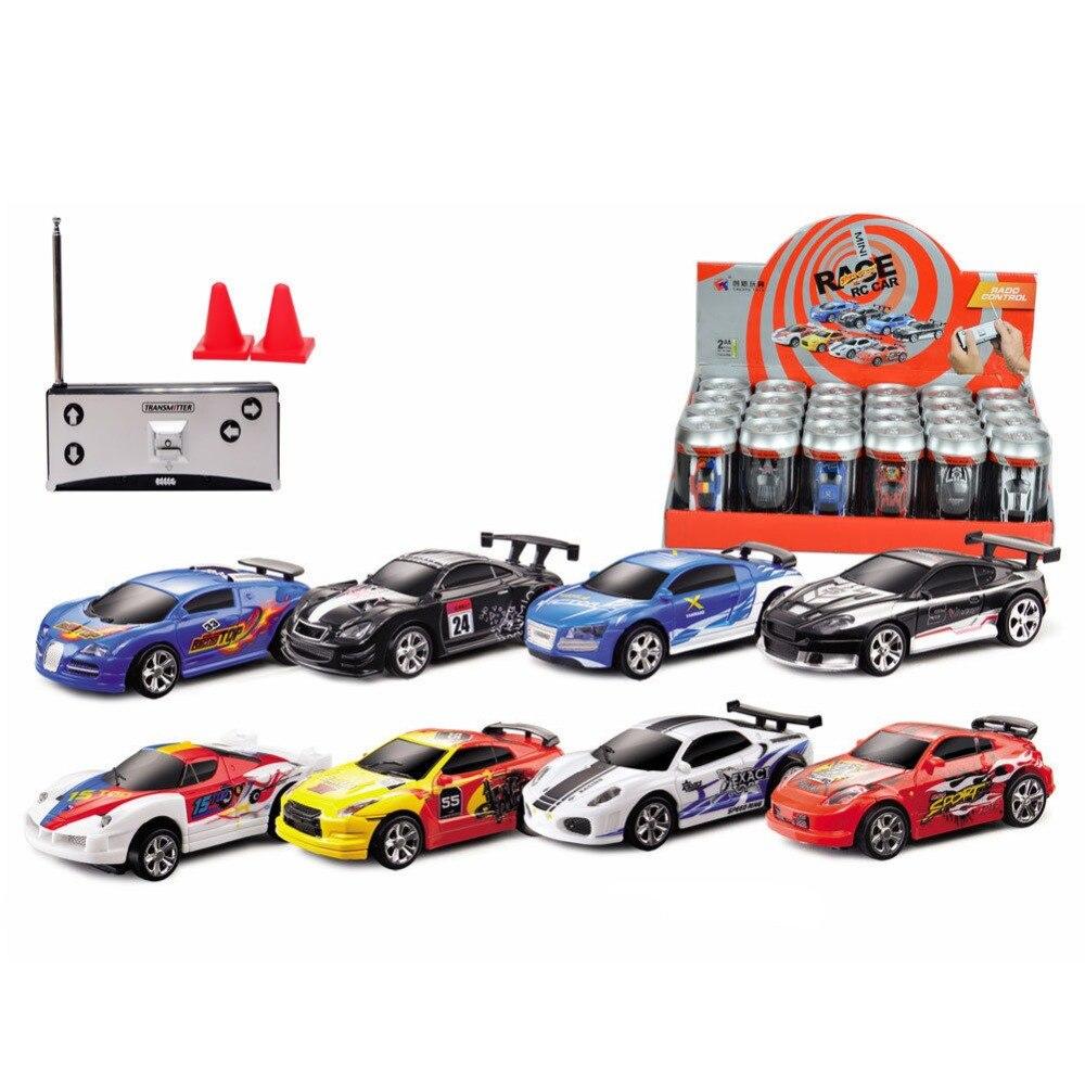 Kinderfahrzeuge Coke Can Mini Speed RC Radio Remote Control Micro Racing Car Toy Gift New OAX
