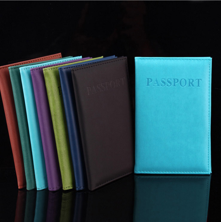 New Fashion PU Card Holder Women Travel Passport Holder Business Passport Cover ID Credit Card Holder Men Passport Wallet mickey hand on t touch passport cover passport holder card pack card sets essential travel abroad to study