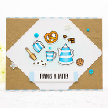 InLoveArts Teapot Stamps And Dies Sets Coffee Cup Cutting Die Stamp Scrapbooking Card Making Album Embossing Die Cut Craft Frame