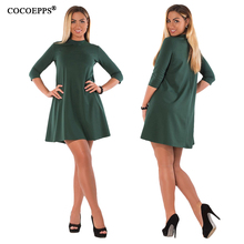 COCOEPPS Fashionable Large Size Women's A-Line Dress