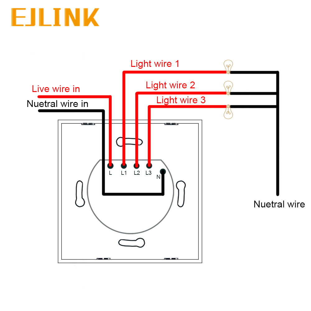Ejlink 3 Gang 1 Way Wifi Switch Ewelink App Remote Control Timer Wiring A 2 Light For Smart Home Automation Works With Google In Modules