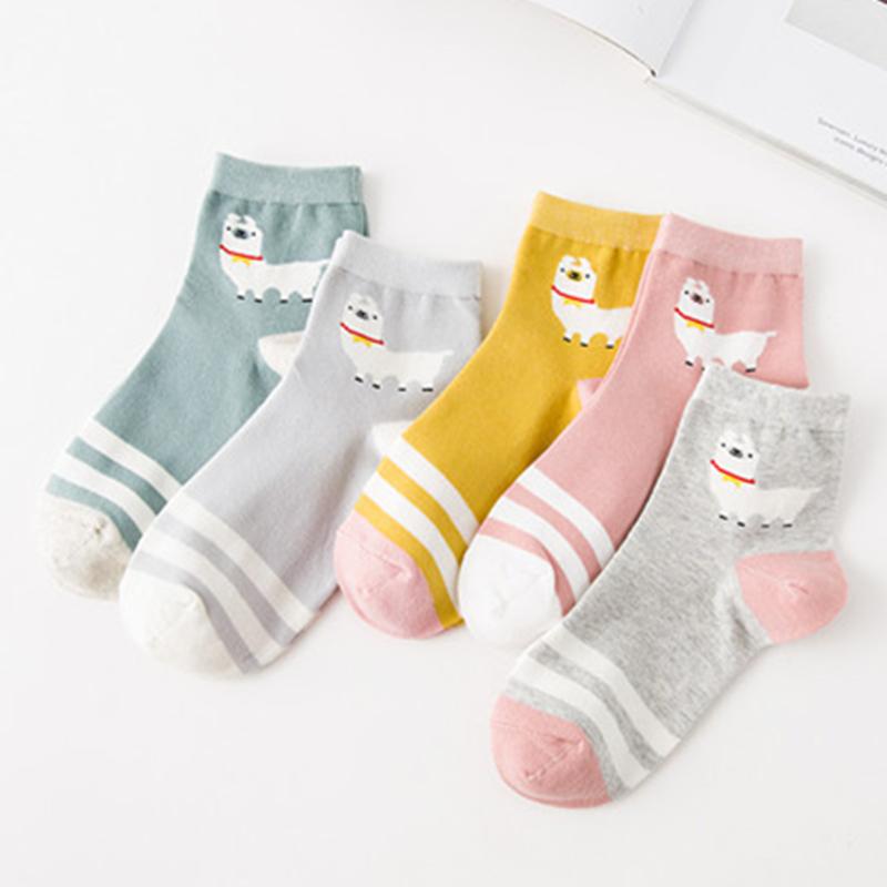 Adult Size Alpaca Cotton   socks   New Winter Autumn Elastic Usual Cheap Penny Vicugna Pacos Stripes Grass Mud Horse Llama Camel