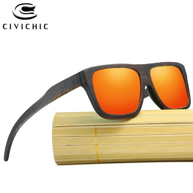 CIVI CHIC bois lunettes De soleil polarisées femmes hommes marque Designer bambou Gafas De Sol HD lunettes De conduite Zonnebril Dames UV400 KD029