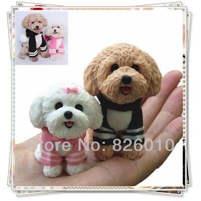 Astonishing Handmade Customization Pet Dog Figurine 6Cm Polymer Clay Poodles Funny Birthday Cards Online Aeocydamsfinfo