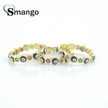 5Pieces,Women Fashion Jewelry,The Rainbow Series,The Little Eye Ring, Gold Colors, Can Wholesale