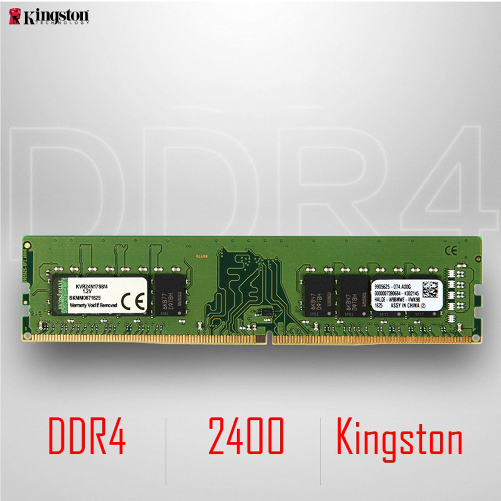 Kingston DDR4 8GB 4GB 2400Mhz Memory RAM Desktop Memory Sticks 1.2V SDRAM Module DDR 4 288Pin CL17 8 GB For Desktop KVR24N17S8/4 full compatible for intel and for a m d motherboard pc12800 1600mhz desktop memory ram ddr3 8gb