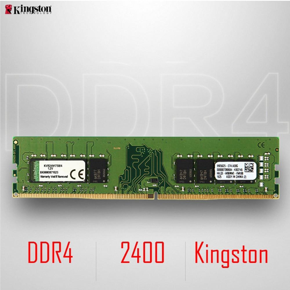 Kingston DDR4 8GB 4GB 2400Mhz Memory RAM Desktop Memory Sticks 1.2V SDRAM Module DDR 4 288Pin CL17 8 GB For Desktop KVR24N17S8/4 jzl memoria pc3 10600 ddr3 1333mhz pc3 10600 ddr 3 1333 mhz 8gb lc9 240 pin desktop pc computer dimm memory ram for amd cpu