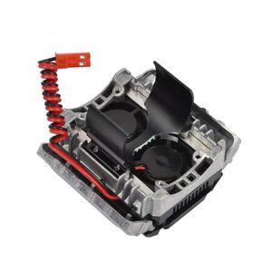 Image 3 - Rc алюминиевый имитационный радиатор двигателя охлаждающий вентилятор для 1/10 Traxxas TRX 4 D90 D110 двигателя