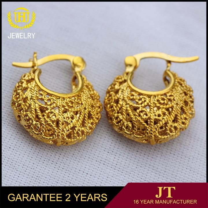 Ethlyn Ethiopian Nigeria Kenya Ghana African Basket Design Earrings Gold Color Fashion For Women In Hoop From Jewelry Accessories On