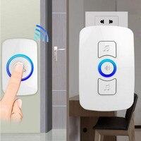 High Quality 150 M Remote Wireless Doorbell Smart Doorbell No Battery Eu Plug Door Hardware Lock