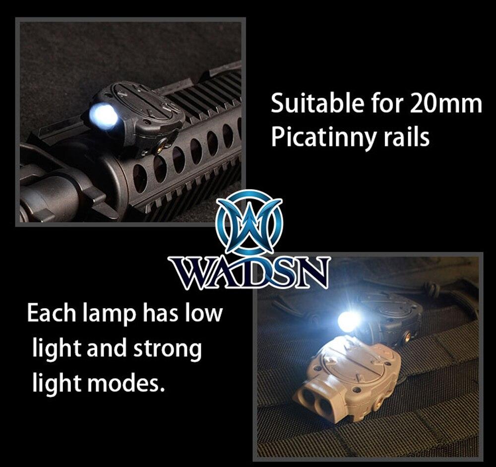 Wadsn princeton capacete tático luz para picatinny