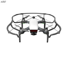1 Conjunto Hélice Guarda capa Protetora & Landing Gear & Conector da haste De fibra de Carbono Para DJI zangão Faísca acessórios