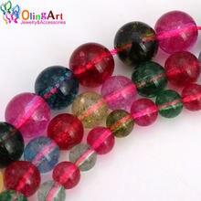 Olingart 6 мм/8 мм/10 мм имитация турмалина фотобусины diy ожерелье/браслет/серьги
