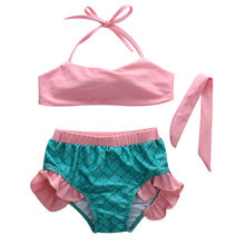Girls Little Mermaid Swimwear Bikini Set