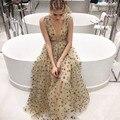 Платье-Де-Феста Женщин Сексуальный Рукавов Звезды Sequin Maxi Dress