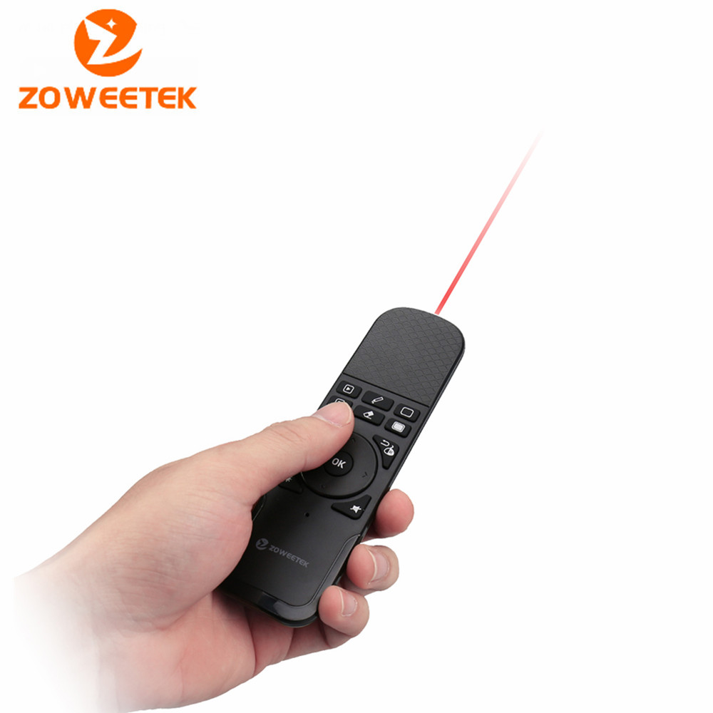Zoweetek I7 PPT Presenter 2.4GHz Wireless Game Keyboard Fly Mouse Remote Control for TV Box Laptop PC Android TV HTPC