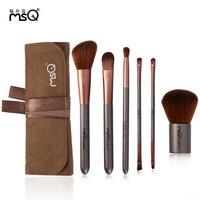 MSQ 6 шт. набор кистей для макияжа с чехлом Kabuki кисточка для век Maquiagem Косметика синтетические волосы набор кисточек для макияжа