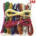 200pcs 3M 10FT Colorful Fabric Braided 3.5mm AUX Stereo Auxiliary Car Audio Cable Male to Male for iPhone 6 Plus/6/Samsung S7/S5